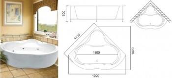 угловые гидромассажные ванны AM-PM  Киев